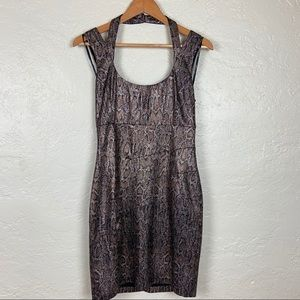 Guess Los Angeles Snake Print Shimmer Dress Size 8